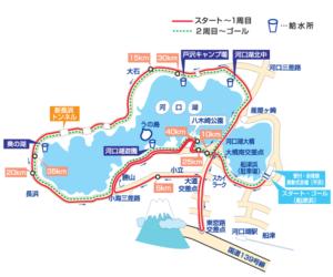 河口湖日刊スポーツマラソン時のコース